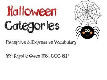Vocabulary: Halloween Categories