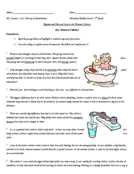 Vocabulary Handout - American Revolution Reading Passage