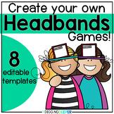 Vocabulary: Headbanz EDITABLE Template
