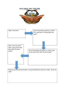 Vocabulary Helper for Independent Reading
