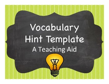Vocabulary Hint Template
