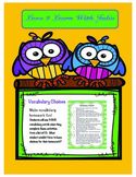 Vocabulary Homework Choices - Ready to Use for the Entire Year