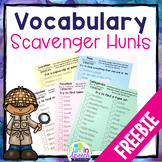 FREE Speech Therapy Scavenger Hunt for Vocabulary Homework