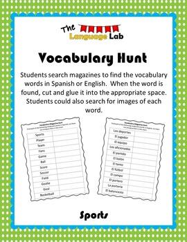 Vocabulary Hunt- Sports