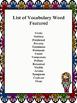Vocabulary I Have Who Has
