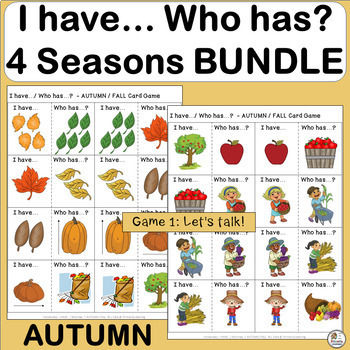 Vocabulary: I have… /Who has…?  4 SEASONS BUNDLE  (PRINT)