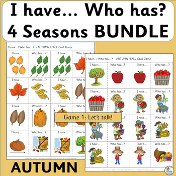 Vocabulary: I have… /Who has…?  4 SEASONS BUNDLE  (SASSOON)