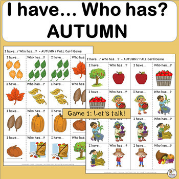 I Have, Who Has Games AUTUMN