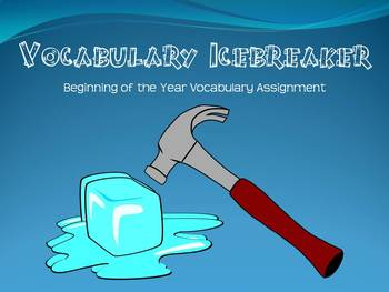 Vocabulary Icebreaker