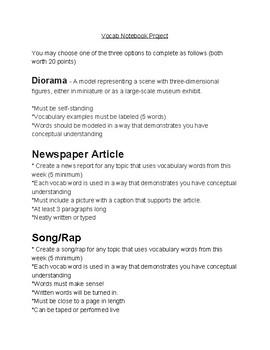 Vocabulary Ideas