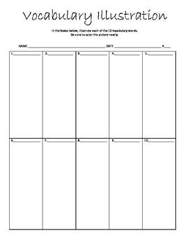 Vocabulary Illustration Activity