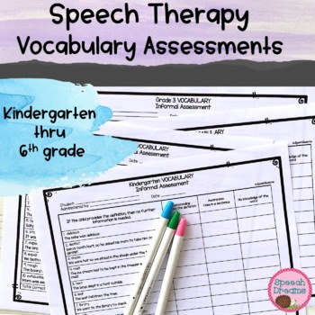 Vocabulary Informal Assessment Data Collection {Progress Monitoring}
