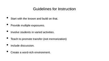 Vocabulary Instruction Notes 1