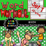 Vocabulary with Graphic Organizers