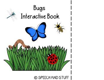Bugs Vocabulary Interactive Book! PreK-1st