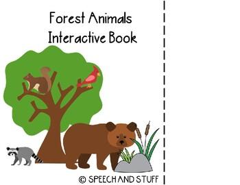 Forest Animals Vocabulary Interactive Book! PreK-1st