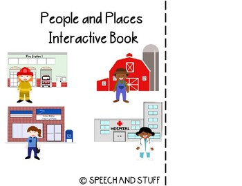 Places and People Vocabulary Interactive Book! PreK-2nd