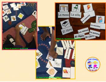 Vocabulary-Interactive Flash Cards-Spanish