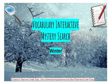 ELA Vocabulary Interactive Mystery Search Activity-Winter-(Google Slides)