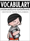 Vocabulary Interactive Notebook