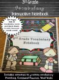 Vocabulary Interactive Notebook: 3rd Grade