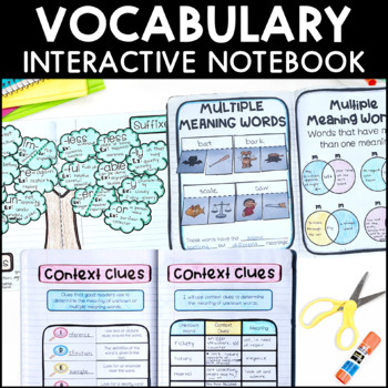Vocabulary - Reading Interactive Notebook