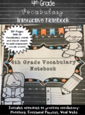 Vocabulary Interactive Notebook: 4th Grade