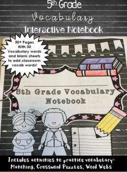 Vocabulary Interactive Notebook: 5th Grade