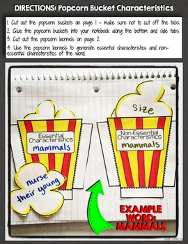 Vocabulary Interactive Notebook Activities