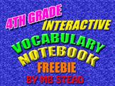 Vocabulary Interactive Notebook FREEBIE 4th GRADE (composi