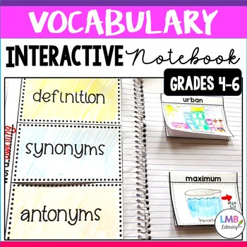 Vocabulary Interactive Notebook- Interactive Notebook Templates for Grades 4-6