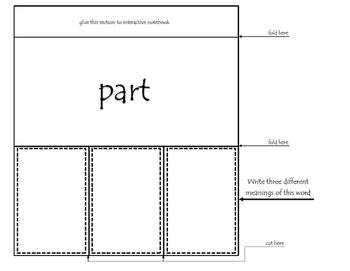 Vocabulary Interactive Notebook - Multiple Meaning Words III