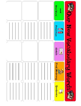 Vocabulary Interactive Notebook and Poster