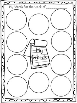 Vocabulary Interactive Notebook for Grades 3-5