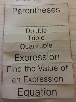 Vocabulary Introduction to 5.OA.1 5.OA.2 (Engage NY 5th Grade Module 2)