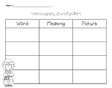 Vocabulary Investigation