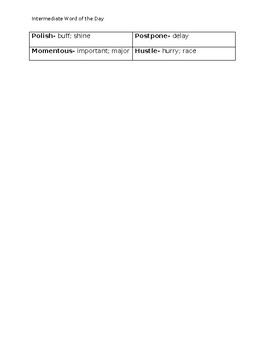 Vocabulary Jar