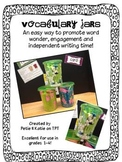 Vocabulary Jars for Writing, Word Work and More!