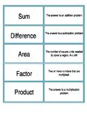 Vocabulary Jigsaw Cards