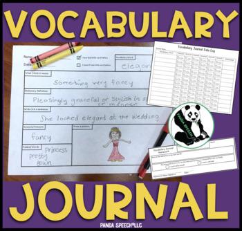 $1.00 Deal Vocabulary Journal