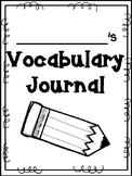 English and Spanish Vocabulary Journal