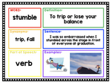 Vocabulary Journal, Digital or Printable, Google Classroom Friendly!