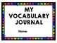 Vocabulary Journal, Digital or Printable, Google Classroom Friendly!