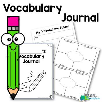 Vocabulary Journal/Folder FREE