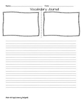 Vocabulary Journal Form