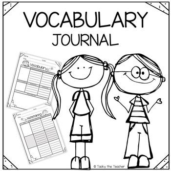 Vocabulary Journal Graphic Organizers | Print and Go!