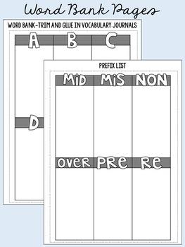 Vocabulary Journal - Interactive Notebook