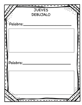 Vocabulary Journal/ Librito de Vocabulario