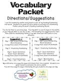 Vocabulary Journal / Packet
