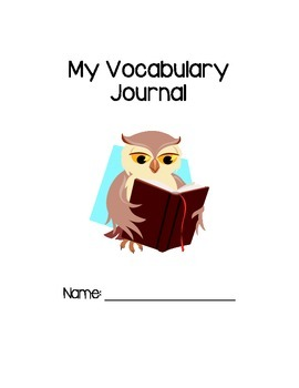 Vocabulary Journal Response Pages